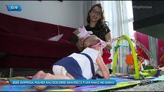 Bebê surpresa: Mulher não descobre gravidez e filha nasce no banho
