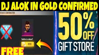 HOW TO GET DJ ALOK CHARACTER IN GOLD | FREE FIRE GIFT STORE 50% OFF KAB AYEGA NEW UPDATE | Mr Ashis
