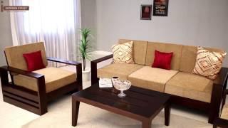 Wooden Sofa Set : Buy Winster 3+1+1 Seater Sofa Set Online - Wooden Street