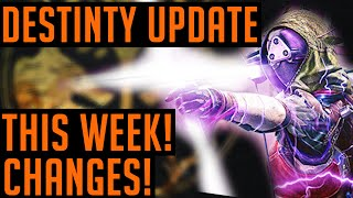 Destiny Weekly Update - Iron Banner Coming, Quiver Coming Back & More Changes!