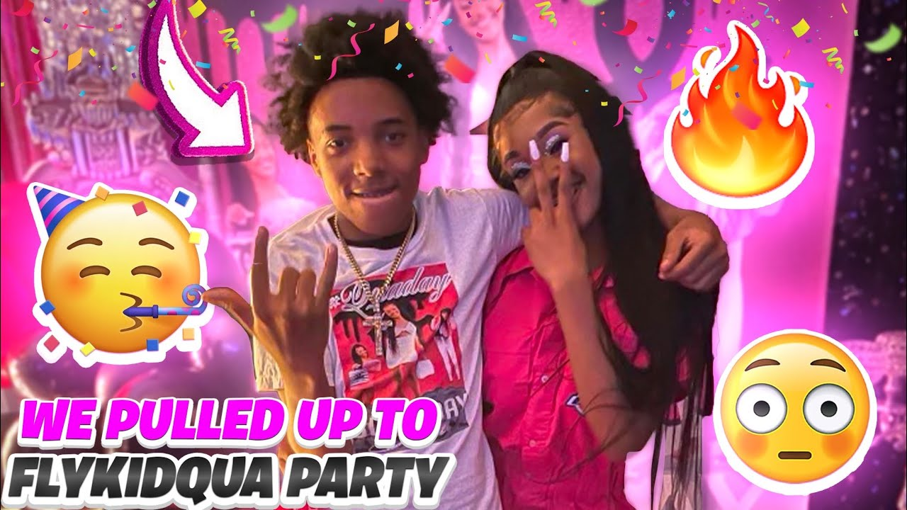 WE PULLED UP TO FLYKIDQUA PARTY & ALMOST GOT LOST
