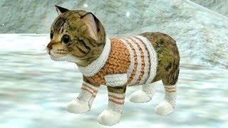 СИМУЛЯТОР Маленького КОТЕНКА #21 Виртуальный потимец и Санта клаус с снеговиком и оленями #ПУРУМЧАТА