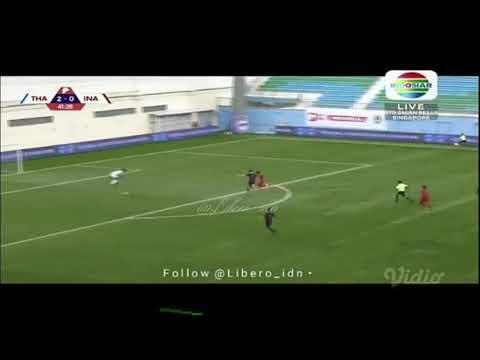 Gol Witan Sulaeman vs Thailand u22 di Merlion Cup 2019, memperkecil ketinggalan skor 1-2
