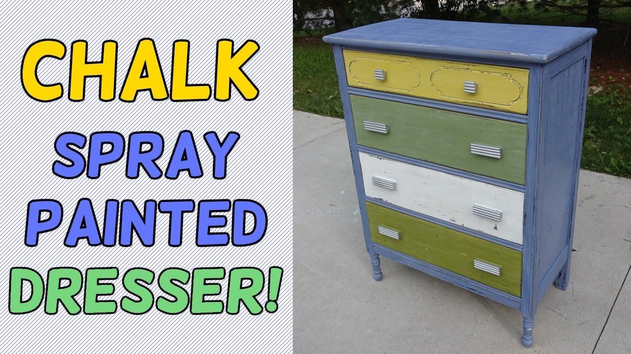 Chalk Spray Paint Dresser Makeover