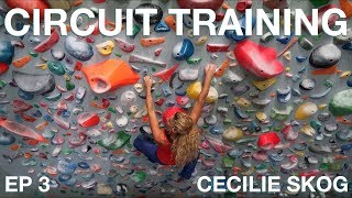 CIRCUIT TRAINING (CLIMBING) -CECILIE SKOG | PROJECT 7B+ (Episode 3)