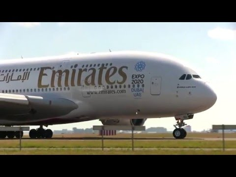 Emirates A380/800 Dubai Expo 2020 Taxing Schiphol Airport Super Cup!