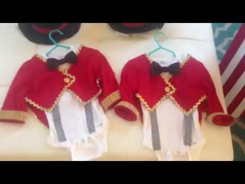 Twins 1st Birthday Vintage Circus: DIY Ticket Booth & DIY Baby Ringmaster Costumes