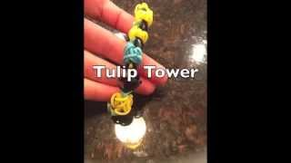 Rainbow Loom Tulip Tower
