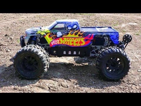 RC ADVENTURES - HOT WHEELS SAVAGE FLUX HP on 6s LiPO - Electric 1/8 Scale 4x4 Monster Trucks