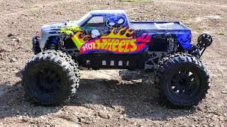rc adventures hot wheels savage flux hp on 6s lipo electric 1 8 scale 4x4 monster trucks