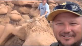 Illegal activity? Men destroy rock formation in Goblin Valley, Utah