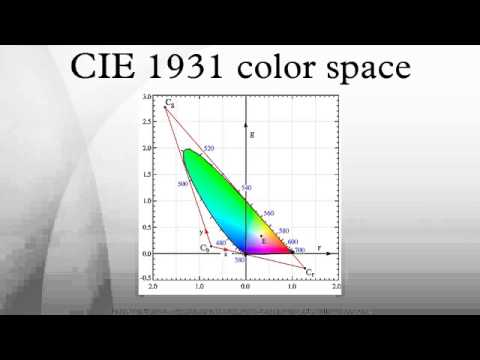 Cie 1931 Color Space Youtube