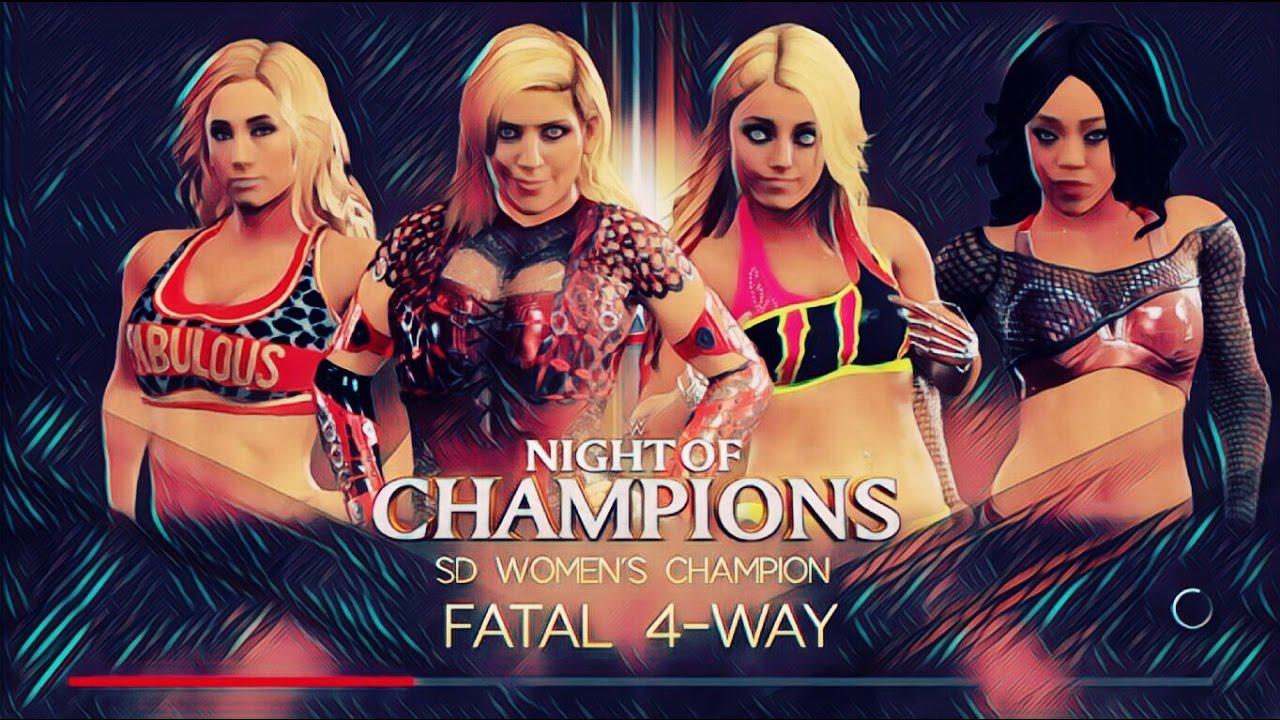Wwe 2K17 Noc Carmella Vs Alexa Bliss Vs Natalya Vs Alicia -6018