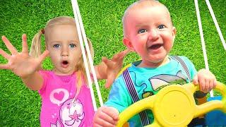 Canción del Patio de Juegos + otras Canciones Infantiles con Katya y Dima