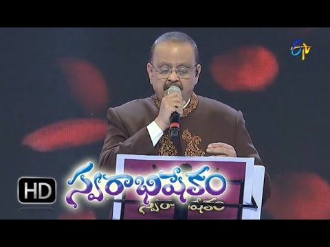Chilaka E Thodu Leka Song   SP Balasubrahmanyam Performance in ETV Swarabhishekam   1st Nov 2015