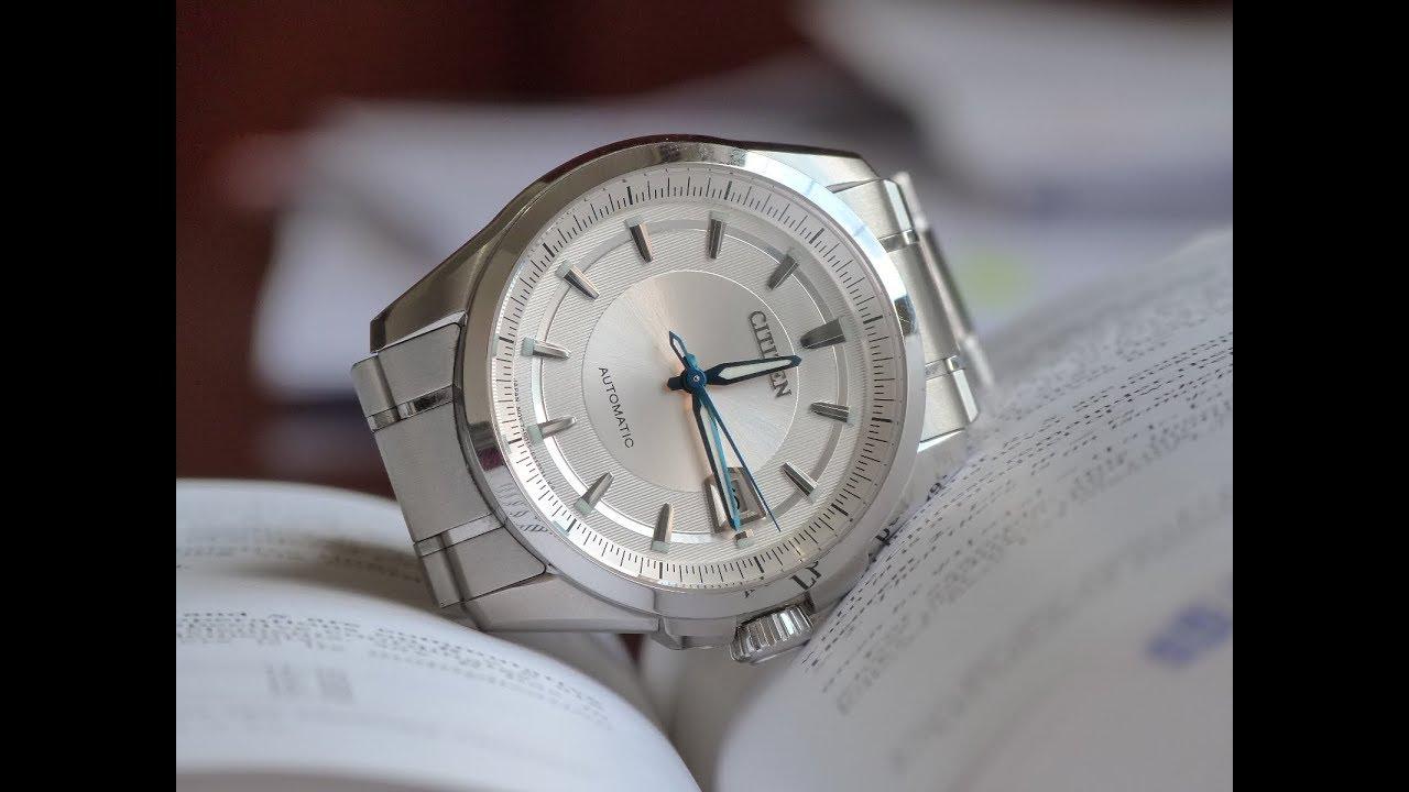 b0c861fad41 Relógio Usado Citizen Signature Grand Classic Masculino NB0040-58A  Automático + Safira