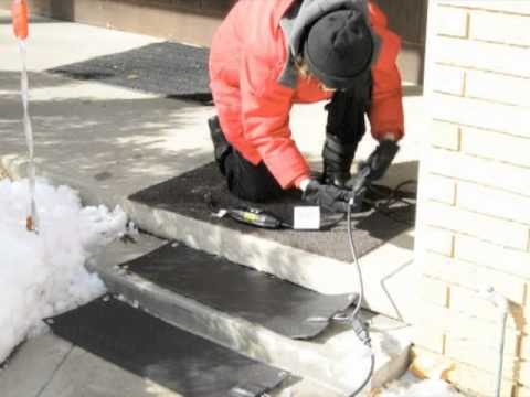 Using Martinson Nicholls Heated Stair Tread Mats