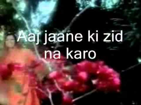 Aaj Jaane Ki Zid Na Karo - Lyric Video | Ae Dil Hai ...