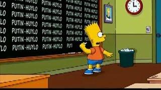 В мультсериале «Симпсоны» появилась надпись ПУТИН-ХУЙЛО