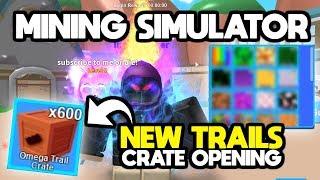 OPENING x600 TRAIL CRATES (NEW TRAILS!)   ROBLOX Mining Simulator