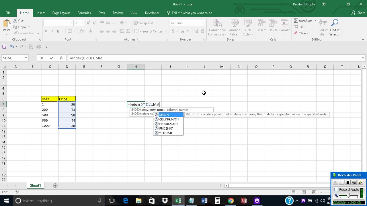 Excel Function To Get Value If It Is Greater Than Or Less Than A