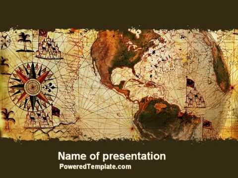age of exploration powerpoint templatepoweredtemplate, Modern powerpoint