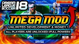 DREAM LEAGUE SOCCER 2018 ELITE MOD(Player developement hack+United Coin+All players Unlocked)