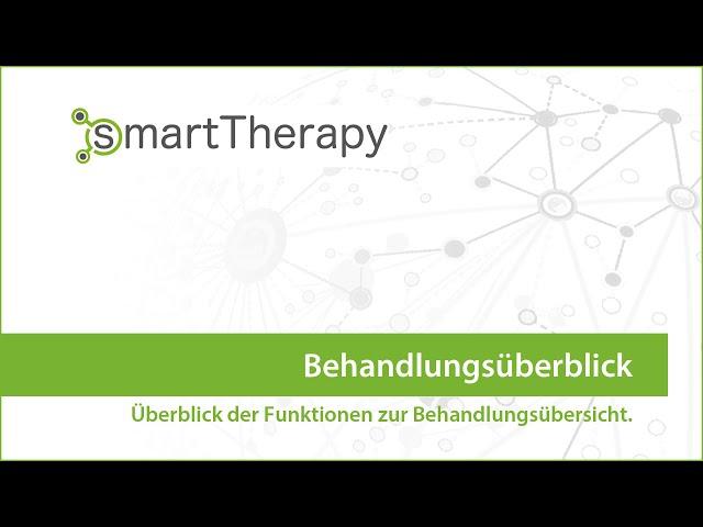 smartTherapy: Behandlungsübersicht