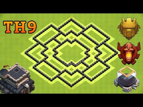 Town Hall 9 (Th9) Trophy Base 2017 | Clash Of Clans