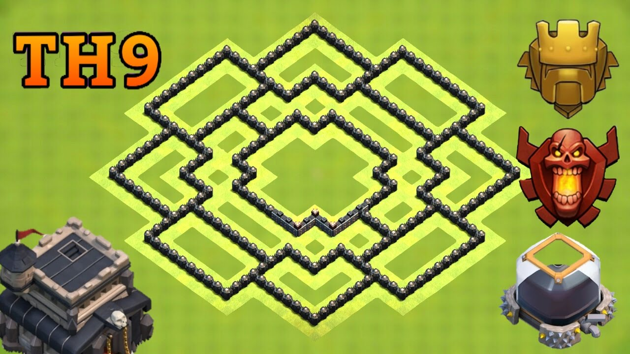 town hall 9 th9 trophy base 2017 clash of clans youtube