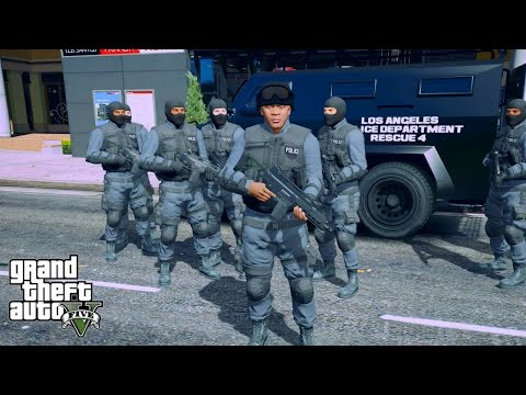 GTA 5 FRANKLIN PLAY AS A SWAT TEAM MOD-(GTA 5 LSPDFR)