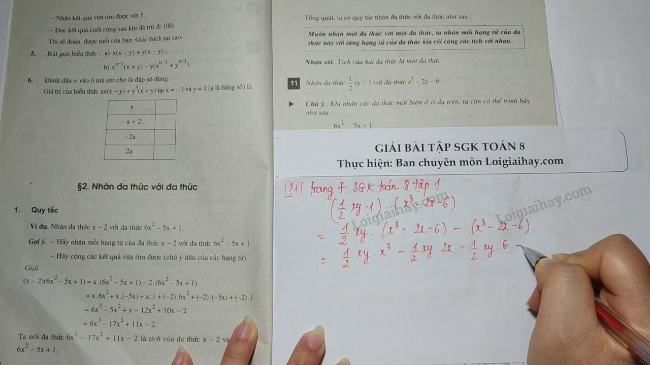 Trả lời câu hỏi 1 bài 2 trang 7 SGK toán 8 tập 1