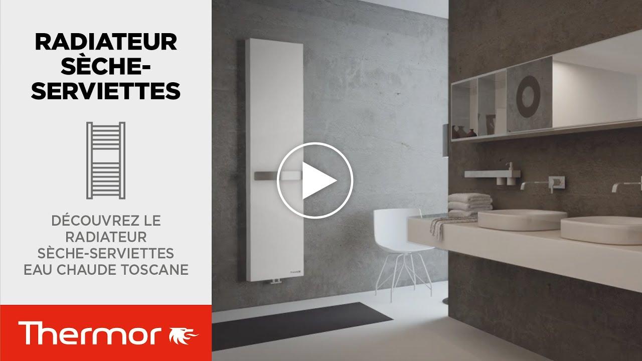 d couvrez le radiateur salle de bain eau chaude toscane thermor youtube. Black Bedroom Furniture Sets. Home Design Ideas