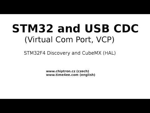 STM32 USB CDC (Virtual Com Port) with CubeMX HAL in 6