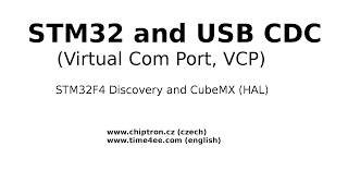 STM32 USB CDC (Virtual Com Port) with CubeMX HAL in 6 minutes
