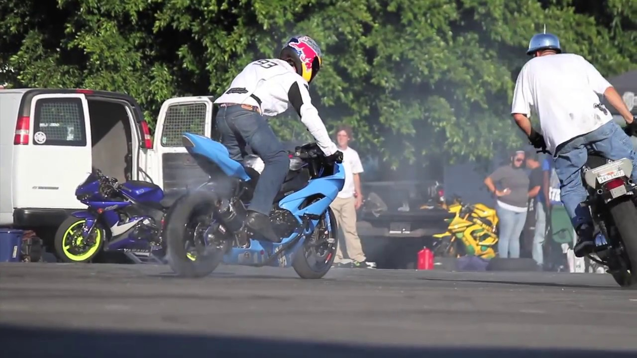 Professional Motorcycle Stunts at XDL Championships in Long Beach California