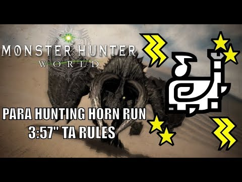 "Monster Hunter World - Black Diablos Special Arena - 3:57"" - Hunting Horn TA Rules thumbnail"