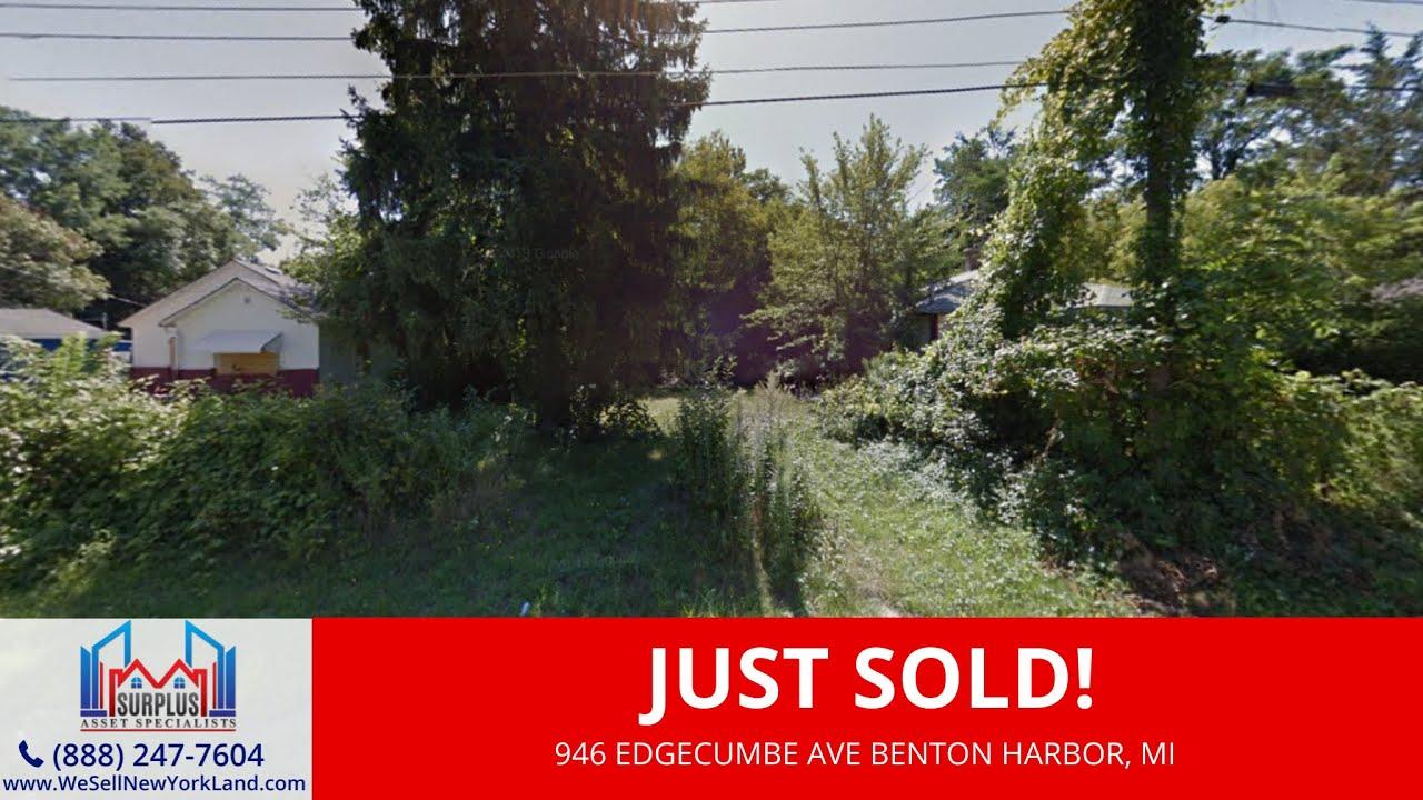 Just Sold By www.WeSellNewYorkLand.com 946 Edgecumbe Ave Benton Harbor, MI - Wholesale Land For Sale