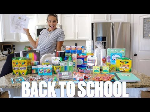 BACK TO SCHOOL SHOPPING HAUL | INSANE BACK TO SCHOOL SUPPLY LISTS | BUYING SCHOOL SUPPLIES