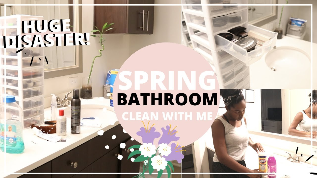 EXTREME SPRING BATHROOM CLEAN WITH ME ??   DEEP CLEANING MOTIVATION