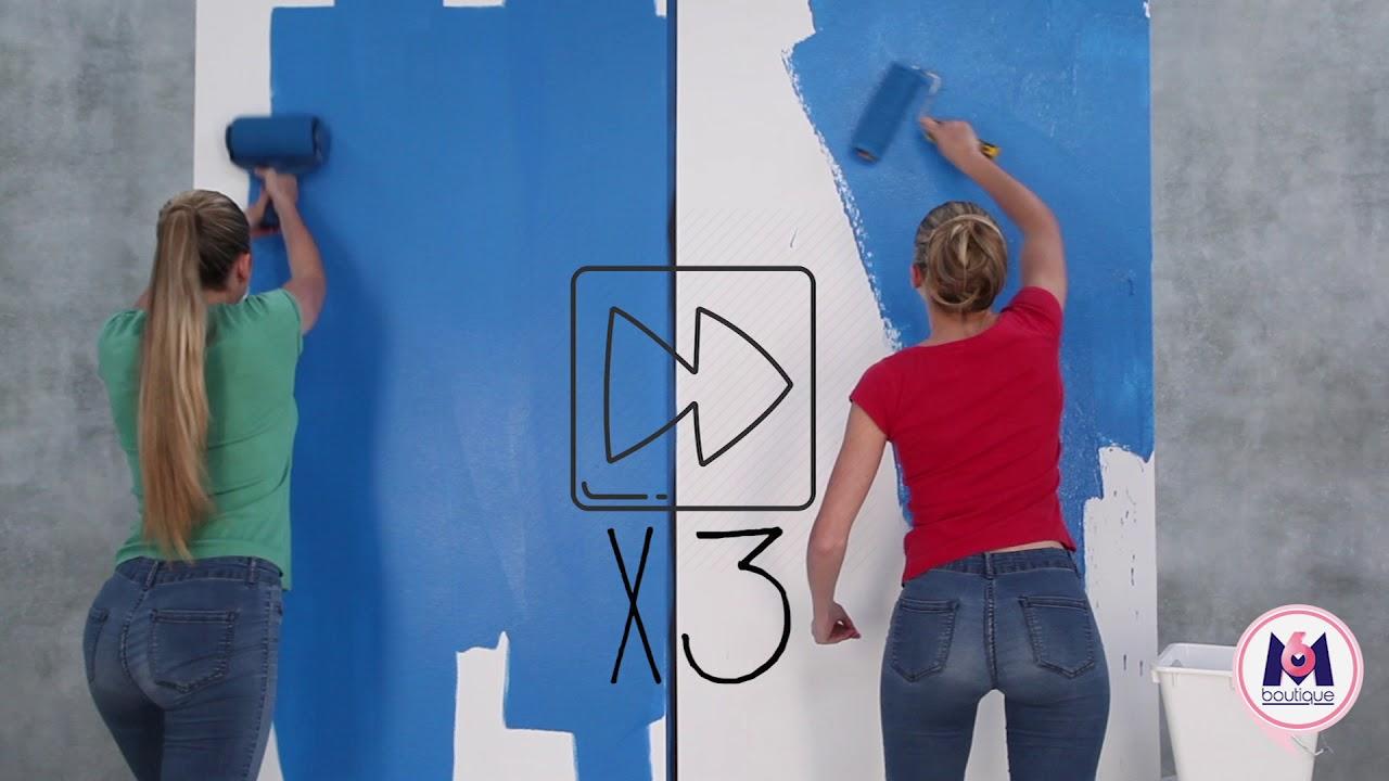 Le Paint Runner Pro Vs Un Rouleau De Peinture Classique Youtube