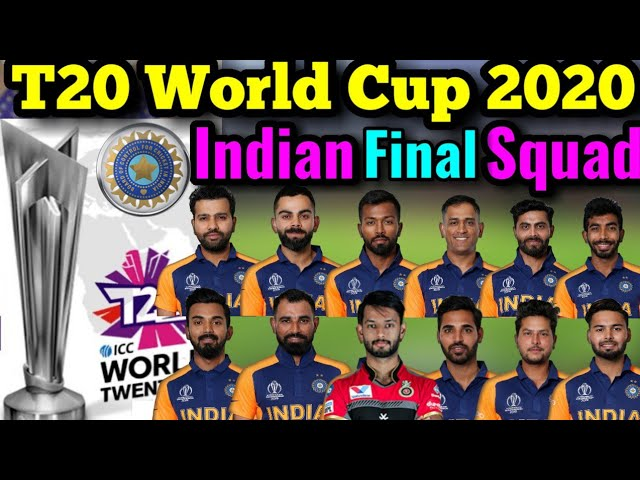 Icc T20 World Cup 2020 Team India Squad Indian 16 Members T20 Squad Probable Players List Youtube