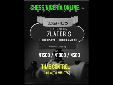 ZLATER'S EXCLUSIVE  CHESS TOURNEY