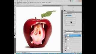 яблоко фотошоп