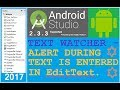 Android studio tutorial - How to use textwatcher for edittext in android. NEW