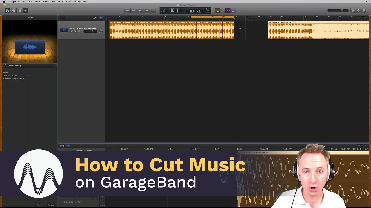 how to use garageband to cut music
