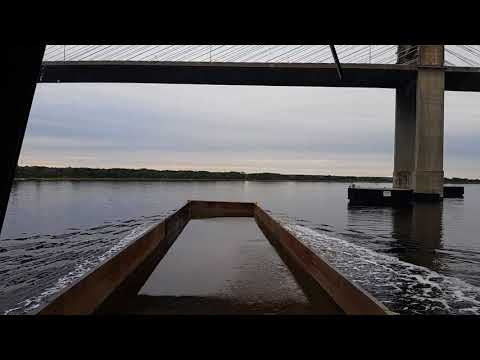 Under the Dame's Point bridge, St Johns River, Jacksonville, FL