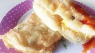 [阿媽煮料]-炸弹蔥油餅,炸蛋蔥油餅 作法 你也可以做出夜市美食 Chinese fried omelet