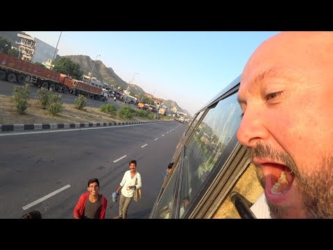 Foreigners Attacked On Indian Bus! (Jaipur to Jodhpur )