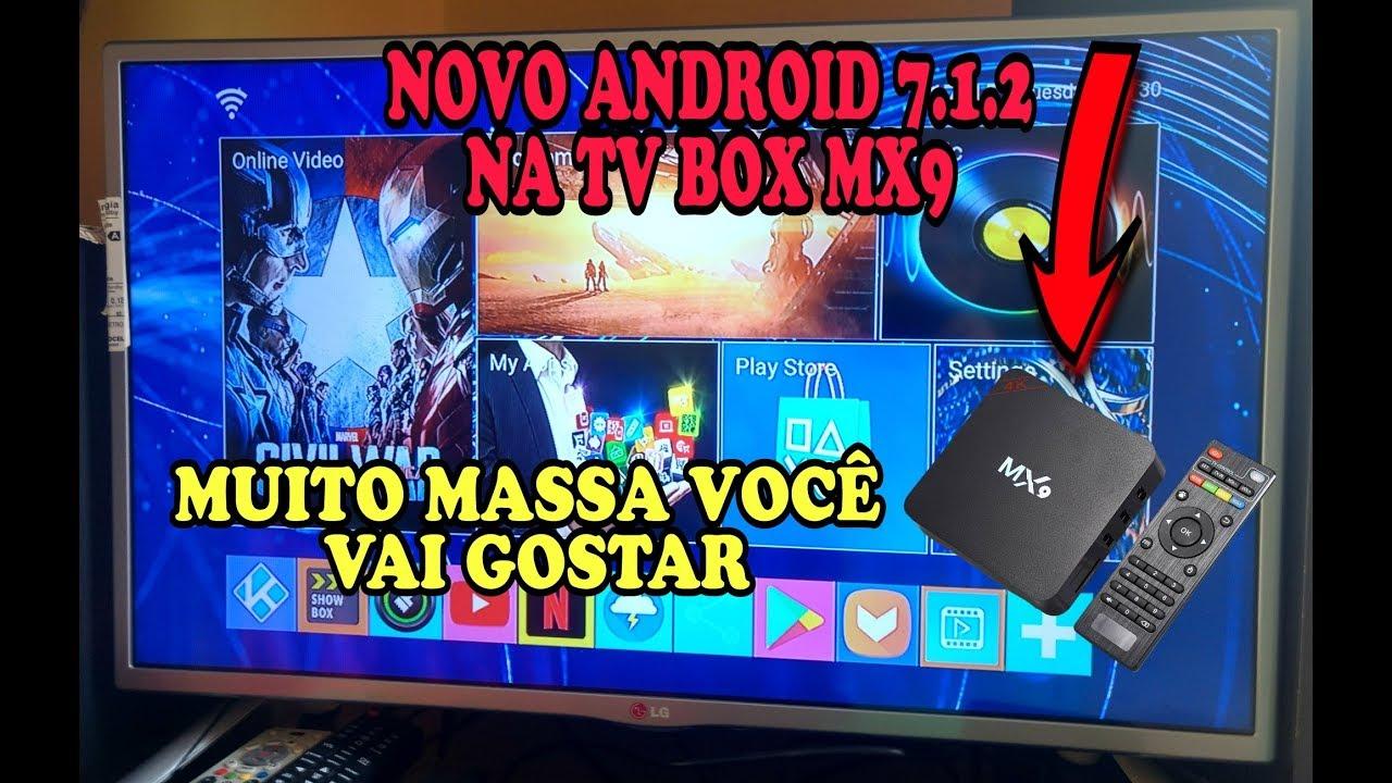 TV BOX MX9 Novo Android 7 1 2